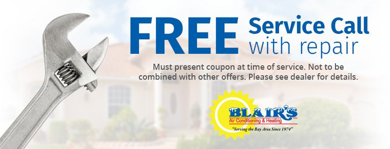 Free AC Service Call With Repair